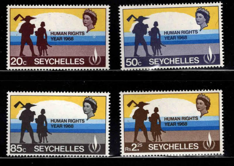 Seychelles Scott 244-247 MNH** Human Rightsl stamp set