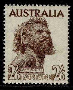 AUSTRALIA GVI SG253ba, 2s 6d sepia, M MINT. Cat £12.