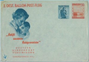 89749 - AUSTRIA - Postal History - Special BALLOON FLIGHT  Stationery Cover