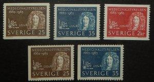 Sweden 629-33. 1963 Swedish Board of Health, NH