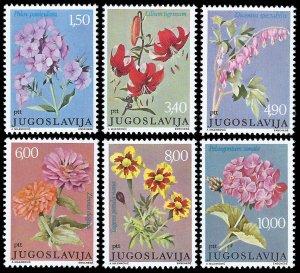 Yugoslavia 1977 Sc. 1325-30 MNH Yugoslav Wildflowers