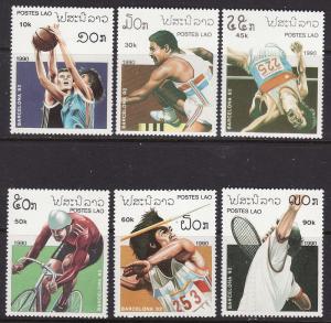 Laos #959-64 MNH ** Barcelona Olympics