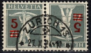 Switzerland #195a Tete-Beche Pair F-VF Used CV $100.00  (P38)