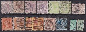 VICTORIA ^^1870-78  sc#135/ 193 x15 used Victorias CLASSICS  $64.00@ lar1604vict