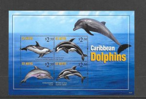 ST KITTS #792  DOLPHINS S/S  MNH