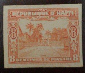 A) 1906, HAITI, CATHOLIC SCHOOL, DIE PROOF, CARMIN