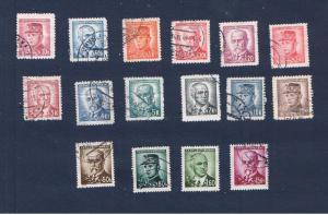 Czech #293-304  VF Used(16)  Various Portraits