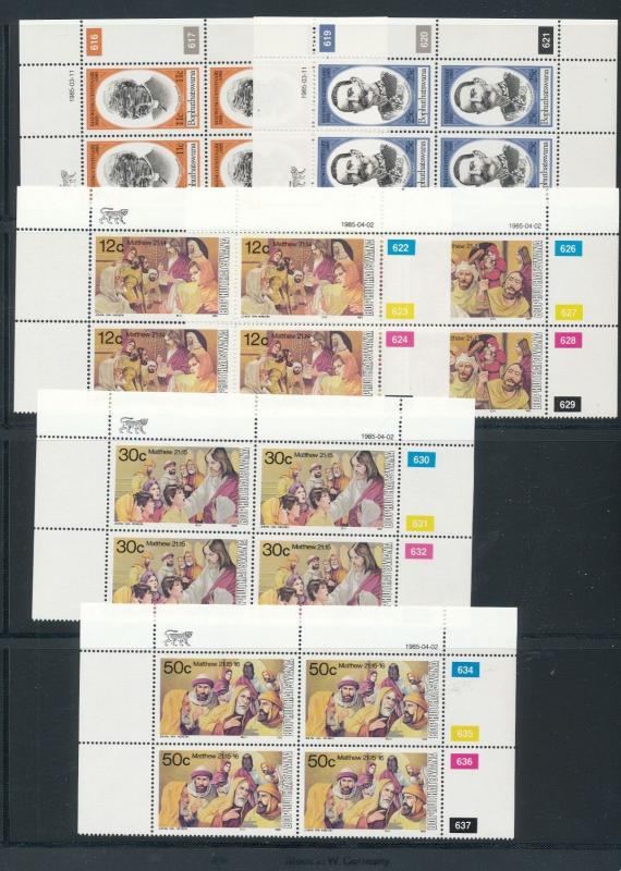 Bophuthatswana 1985 Easter Trees Blocks MNH (40 Stamps) LP40