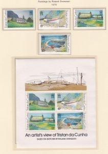 Tristan Da Cunha # 234-237 & 237a, Paintings by Roland Svensson, NH, 1/2 Cat.