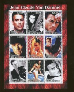 Turkmenistan Jean Claude Van Damme Commemorative Postage Stamp Souvenir Sheet