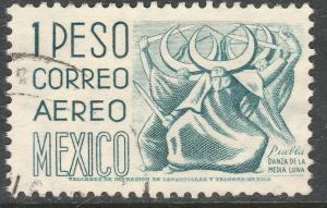MEXICO C220G, $1P 1950 Definitive 2nd Ptg wmk 300 PERF 11. USED F-VF (1272)