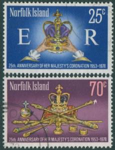 Norfolk Island 1978 SG207-208 QEII Coronation set FU