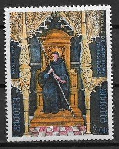 1977 French Andorra 257 St. Romanus of Caesarea MNH