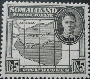 Somaliland 1942 Five Rupee SG 116 mint