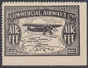 CANADA 1930s COMMERCIAL AIRWAYS 'Air Fee' stamp mint - no gum..............57225