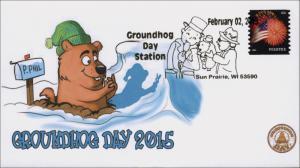 NEW, 2015, Ground Hog Day, Sun Prairie WI, Pictorial, 15-013