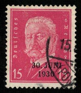 Reich, 15 Pf., Germany, overprint 30 Juni 1930 (T-5790)