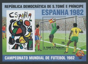 St. Thomas & Prince Isl. #649 NH World Cup Soccer Champio...
