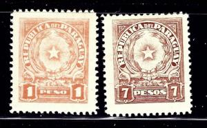 Paraguay 392/394 MH 1942-43 issues
