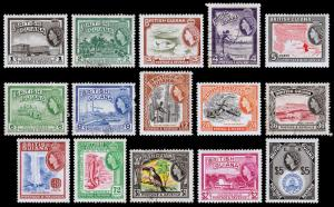 British Guiana Scott 253-267 (1954) Mint/Used LH VF Complete Set M