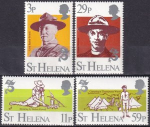 St. Helena MNH 378-81 Boy Scouts