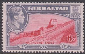Gibraltar - 1938 6d Moorish Castles mint #113b