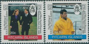 Pitcairn Islands 1986 SG290-291 Royal Wedding set MNH