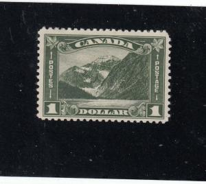 CANADA  # 177 VF-MH $1  MT. EDITH CAVELL,AB / KGV ARCH/LEAF ISSUE CAT VALUE $300
