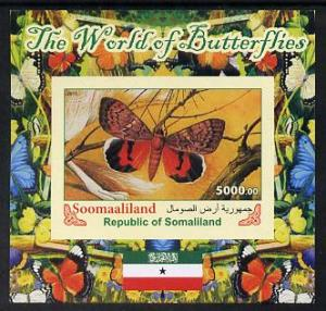 Somaliland 2011 The World of Butterflies #3 imperf souven...