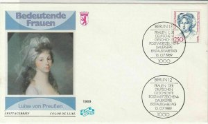 Germany 1989 Famous German Women Luise Von Preuben FDC Stamps Cover Ref 24608