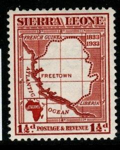 SIERRA LEONE SG170 1933 1½d CHESTNUT MTD MINT