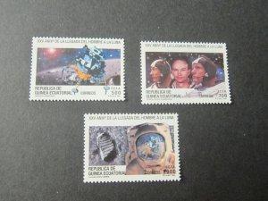 Ecuador 1994 Sc 195-7 space set MNH