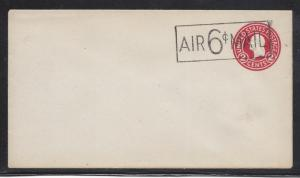 AIRMAIL, UC8A, DIE 7, SIZE 10, ENVELOPE, UNUSED, SHIPS $1.00