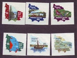 J23156 JLstamps 1974 & 7  norfolk island sets mnh #181-4,185-6 designs