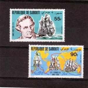 Djibouti 1980 Scott 519-520 MNH Set(2) Captain Cook-Endevour