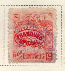 Nicaragua 1896-97 Early Issue Fine Used 2c. Official Optd 323749