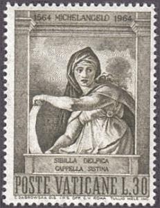 Vatican City # 389 mnh ~ 30 l Delphie Sibyl, by Michelangelo