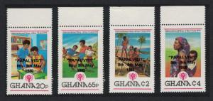Ghana Papal Visit Nos 898/901 optd 'PAPAL VISIT' 8th - 9th May 1980 4v Top