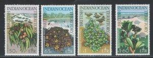 British Indian Ocean Territory 1978 Native Plants Scott # 78 - 81 MH