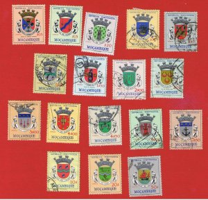 Mozambique #407-423 VF Used  Coat of Arms  complete set  Free S/H
