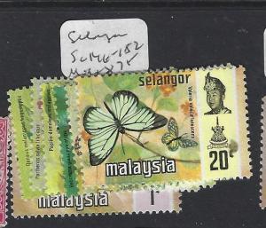 MALAYA SELANGOR  (P0609B)  BUTTERFLY  SG 146-152  MOG