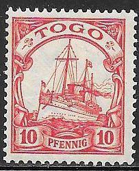 Togo 22 Unused/Hinged - Kaiser's Yacht