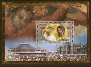MEXICO 2118, Visit of Pope John Paul II, Souvenir SHEET. MINT, NH. VF. (69)