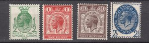 J28101 1929 great britain set mh #205-8 king