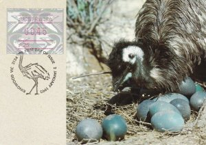 MXC90) 1992, Australia, Emu with a clutch of Eggs, maximum card