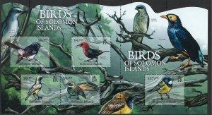 Solomon Islands Scott 1180 Souvenir Sheet MNH! Birds!