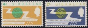 Gibraltar 167-168 MNH (1965)