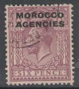 MOROCCO AGENCIES SG48 1921 6d REDDISH PURPLE FINE USED