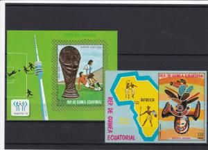 equatorial guinea mint never hinged  stamps sheets ref r9557