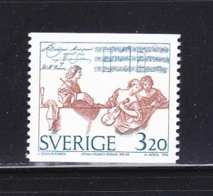 Sweden 2093 MNH Johan Heimich Roman, Composer